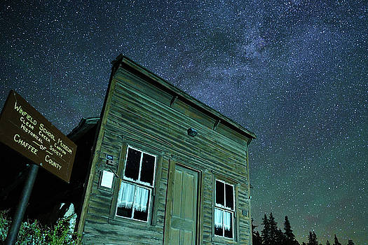 Stars over Winfield Ghost Town by Daniel Lowe