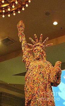 Statue of Liberty Made of Smarties by John Malone