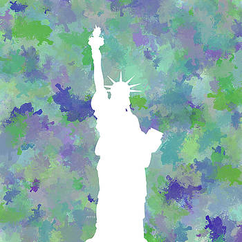 Statue of Liberty Silhouette by Phil Perkins