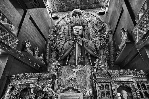 Statue of Maitreya Buddha by Alexander Shafir