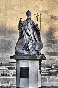 Statue of Pope John Paul by Jim Walls PhotoArtist