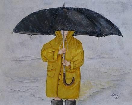 Under Daddy's Umbrella by Kelly Mills