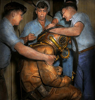 Mike Savad - Steampunk - Diver - A load off my shoulders 1936