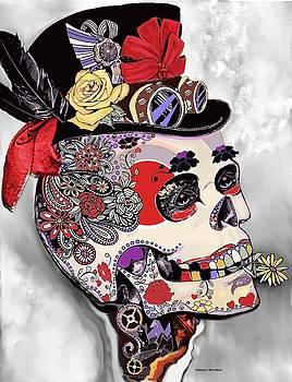 Steampunk Sugar Skull by Melodye Whitaker