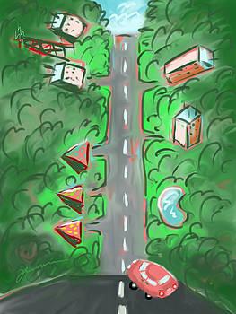 Steep Road by Jean Pacheco Ravinski