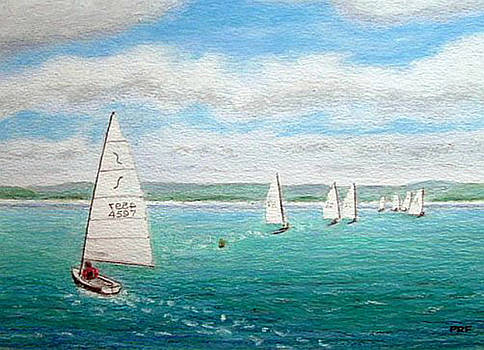 'Steer the Course' - West KIrby Marine Lake, Wirral by Peter Farrow
