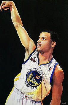 Stephen Curry Gold State Warriors by Michael  Pattison