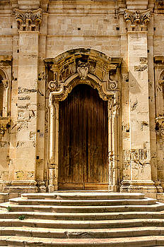 Steps And Old Door Syracuse Sicily by Xavier Cardell