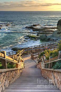 Steps To Treasure Island Beach by Eddie Yerkish