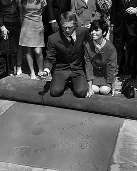 Steve McQueen Hollywood Walk of Fame by Robert Harland Perkins