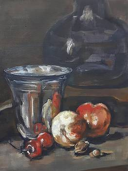 Still in oil after Paul Chardin by Christel Roelandt