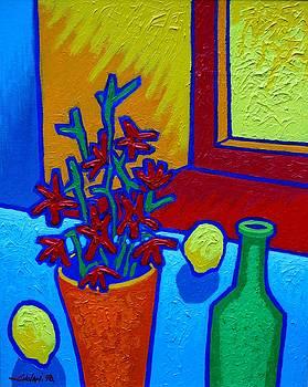 still Life At Yellow Window by John  Nolan