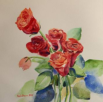 Still life Red Roses by Geeta Biswas
