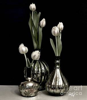 Still Life Tulips in Vases by Marsha Heiken
