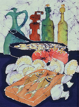 Still Life with Blues by Carol  Law Conklin
