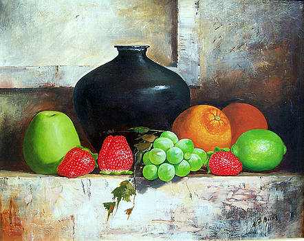Still life with Fruits by Alim Adilov