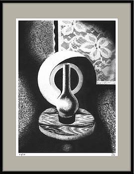 Still life with kerosene lamp by Zia Art