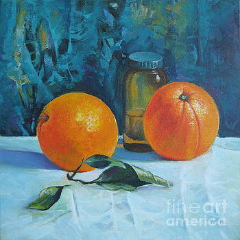 Still life with oranges by Elena Oleniuc