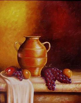 Still life with pot by Gene Gregory