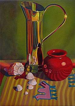 Still Life With Shells by Evelyn  M  Breit