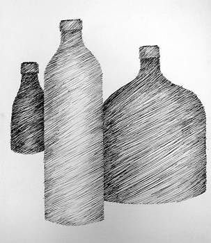 Michelle Calkins - Still Life with Three Bottles