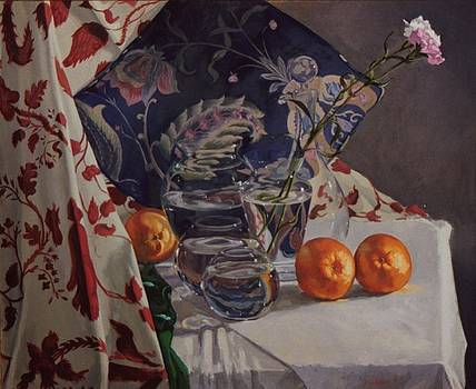 Still life with Two Carnations by David Johnson