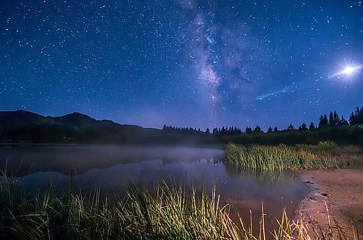 Still Night at Upper Molas Lake by Michael J Bauer