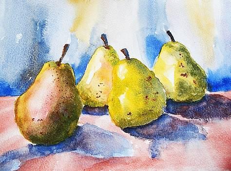Still Pears by Lucia Del