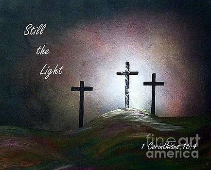 Still the Light Scripture Painting by Eloise Schneider