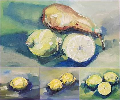 Still with Lemon and Pear by Christel Roelandt