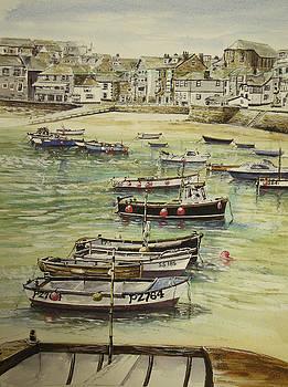 St.Ives harbour cornwall by Keran Sunaski Gilmore