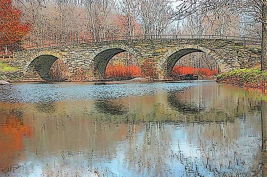 Stone Arch Bridge - Autumn by Ericamaxine Price