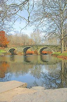 Stone Arch Bridge Reflections by Ericamaxine Price