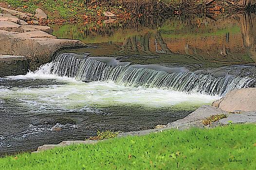 Stone Arch Bridge Waterfall by Ericamaxine Price