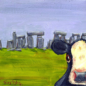 Stonehenge Cow by Terry Taylor