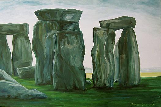 Stonehenge in Spring 2 by Jennifer Christenson