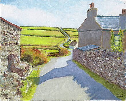 Stonework in Cregneash Heritage Village Isle of Man by Dai Wynn