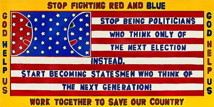 Stop Fighting Red And Blue by MaryAnn Kikerpill