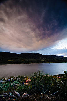 Storm Clouds over Horsetooth, Colorado by Preston Broadfoot