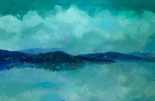 Storm on the Fjord by Carol Hopper