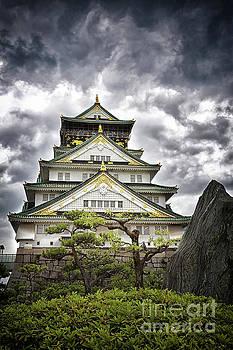 Storm over Osaka Castle by Jane Rix