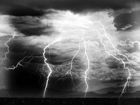 Storm Over Santa Fe Mountains by Joseph Frank Baraba