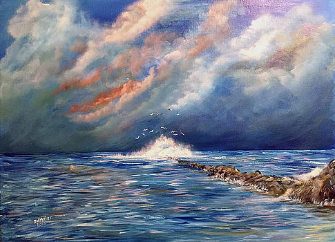 Storm over the ocean by Dorothy Maier