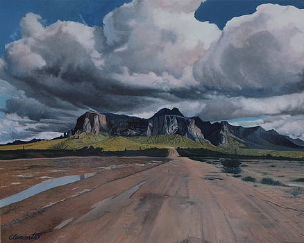Storm over The Superstitions by Barbara Barber