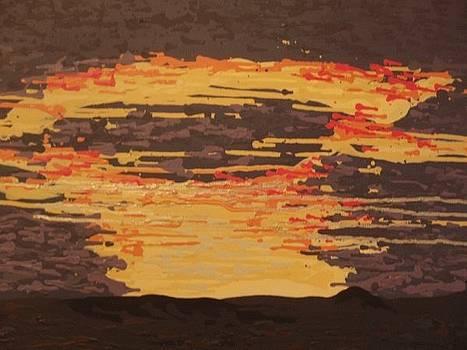Storm Sunset by Samuel Freedman