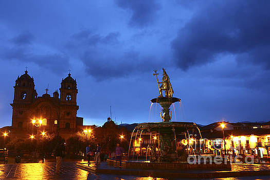 James Brunker - Stormy Skies over Cusco at Sunset