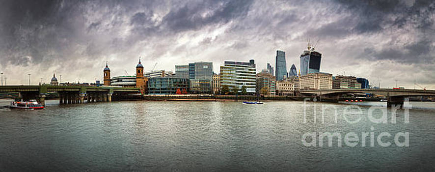 Stormy skies over London by Jane Rix