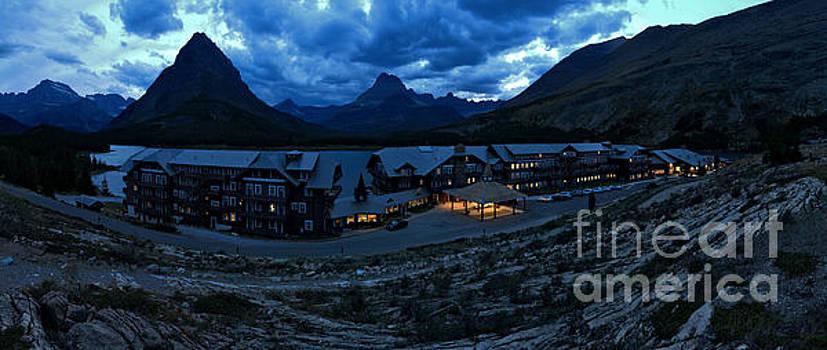 Adam Jewell - Stormy Skies Over Many Glacier Lodge