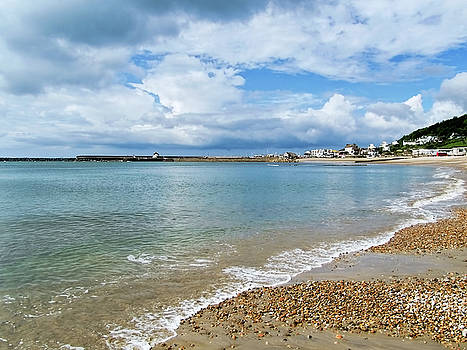 Stormy Summer Morning At Lyme Regis by Susie Peek