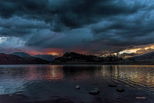 Stormy Sunset from Summit Cove by Stephen Johnson